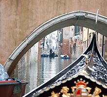 Through The Archway- Venetian Gondolas by Nathan Seiler