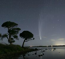Comet McNaught over Lake Connewarre by Peter Fuller