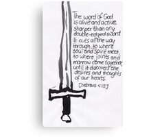 Hebrews 4: Sword Canvas Print