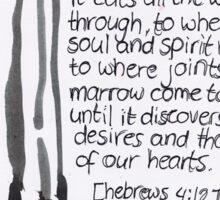 Hebrews 4: Sword Sticker