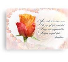 Love card Canvas Print
