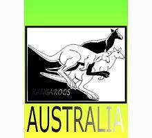 KANGAROOS AUSTRALIA Mens V-Neck T-Shirt