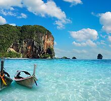 Postcard from the Andaman Sea in Thailand by Brünø Beach .