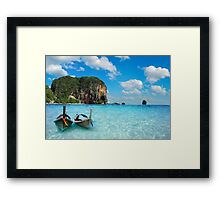 Postcard from the Andaman Sea in Thailand Framed Print