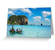 Postcard from the Andaman Sea in Thailand Greeting Card