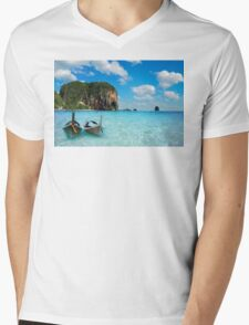 Postcard from the Andaman Sea in Thailand Mens V-Neck T-Shirt