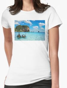 Postcard from the Andaman Sea in Thailand Womens Fitted T-Shirt
