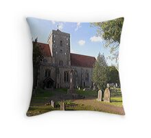 The Assumption of Blessed Mary and St. Nicholas, Etchingham Throw Pillow