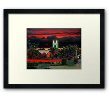 Cozumel Plaza Framed Print