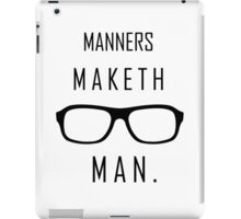 "Kingsman: ""Manners maketh man."" iPad Case/Skin"