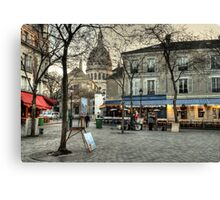 Place du Tertre, Montmartre, in the morning Canvas Print