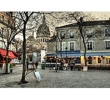 Place du Tertre, Montmartre, in the morning Photographic Print