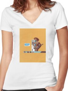 Keep 109 Women's Fitted V-Neck T-Shirt