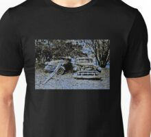 Vintage Decay in Blue Unisex T-Shirt