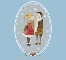 Lovers In The Snow Kids Tee