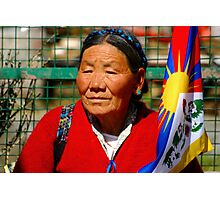 Free Tibet supporter Photographic Print