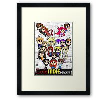 Cafe Indie Chibi Group Framed Print