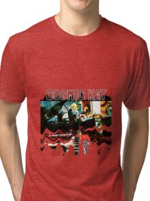 Cosmic Kat Band Tri-blend T-Shirt