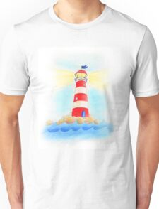 Lighthouse whimsical watercolor art  Unisex T-Shirt