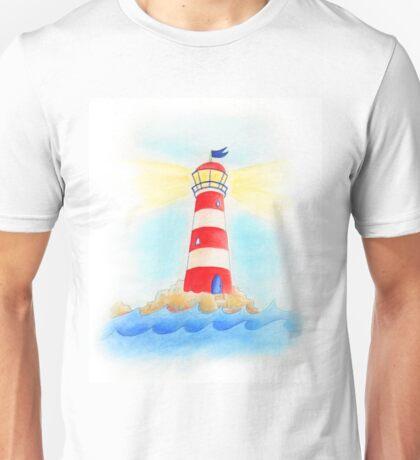 Lighthouse whimsical watercolor art  Unisex T-Shirt