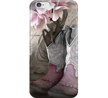 Pink Cowgirl Boots iPhone Case/Skin