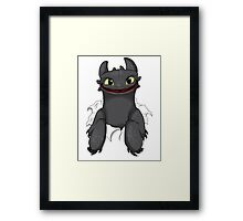 Curious Toothless Framed Print