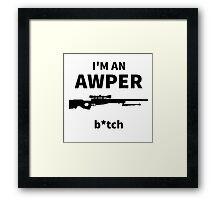 I'm an AWPER Framed Print