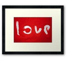 Love on Red Sand Framed Print