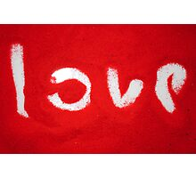 Love on Red Sand Photographic Print