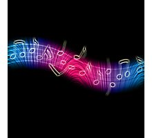 Dancing Music Notes Photographic Print