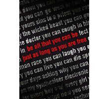 Be All That You Can Be - Typography Photographic Print