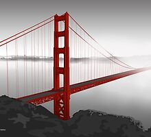 Golden Gate Bridge (Vectorillustration) by CarolinaMatthes