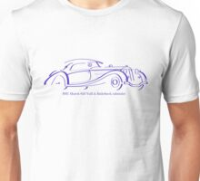 1937 Horch 853 Voll & Ruhrbeck cabriolet blue line drawing Unisex T-Shirt