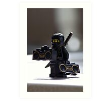 The Black Ninja Art Print