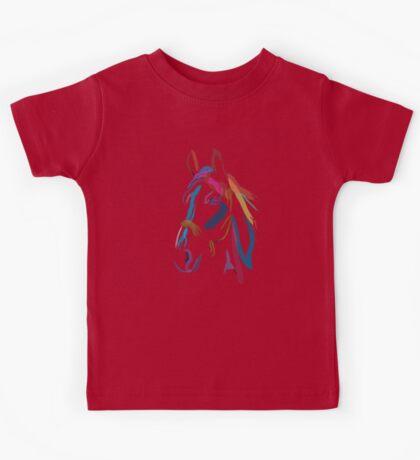 Cool t-shirt Horse Colour me beautiful Kids Tee