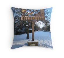Hethersett in the snow Throw Pillow