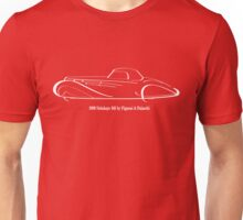 1939 Delahaye 165 by Fignoni & Falaschi white ink line drawing Unisex T-Shirt