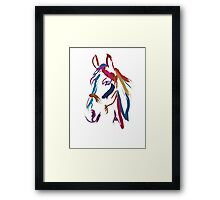 Cool t-shirt Horse Colour me beautiful Framed Print
