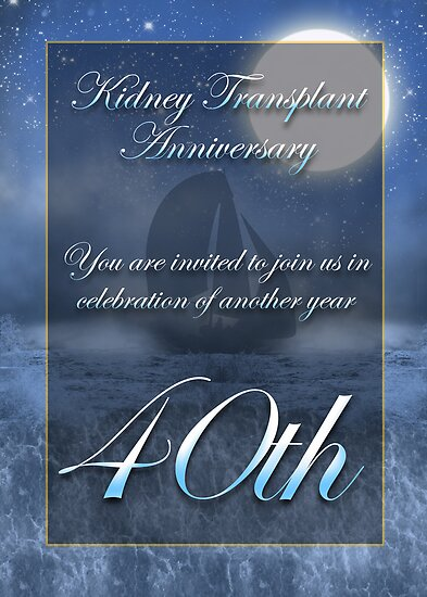 Kidney Transplant Anniversary Party Invitation  by Moonlake