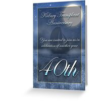 Kidney Transplant Anniversary Party Invitation  Greeting Card