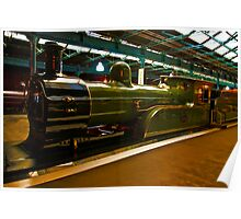 No.1621 Old Steam Engine Poster