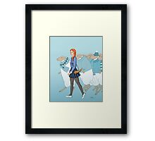 Little Girl Blue Framed Print