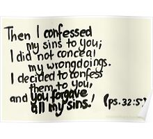 Psalm 32: You forgave my sins Poster