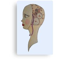 Clockwork Girl Canvas Print