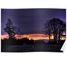 Sunrise in Dallas Oregon Poster