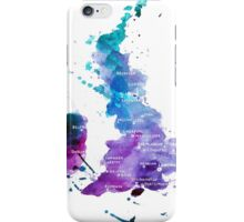 UK map in Watercolours iPhone Case/Skin