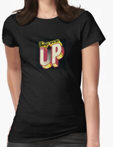 up up up Womens Fitted T-Shirt
