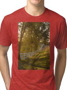 Receding Fence Afternoon Sun Tri-blend T-Shirt