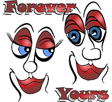 Cartoon Eyes - Forever Yours Photographic Print