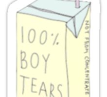 100% Boy Tears Sticker